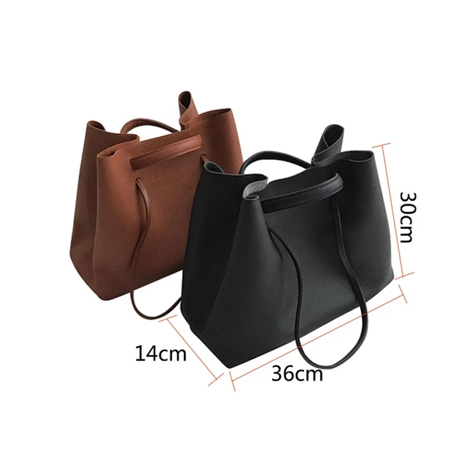 Fashion PU Leather Woman Shoulder Bags Brand Handbags Women Bucket Bags Designer Messenger Bag High Quality Women Mujer Bolsas 4