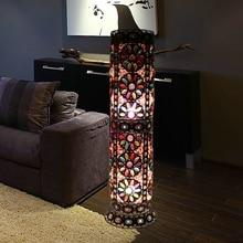 Декоративный Напольный Светильник в богемном стиле для спальни, железные напольные лампы для гостиной, уникальный напольный светильник для кафе, AC90-265V