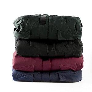 Image 5 - 2020 kış ceket erkekler uzun kürk yaka kapüşonlu Parka erkekler için kalın sıcak ordu askeri taktik rüzgar geçirmez giyim spor ceket