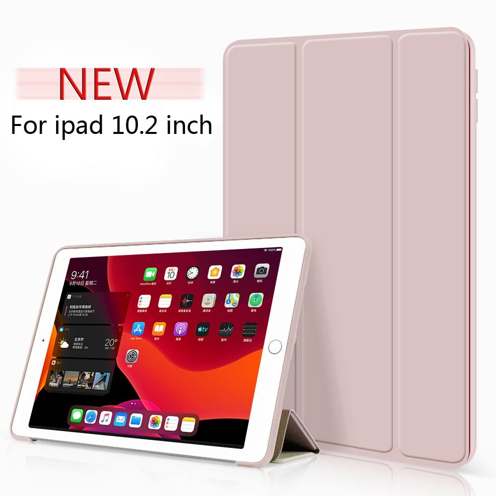 Funda inteligente Trifold para iPad 10,2 pulgadas 2019 7th Gen, auto Sleep/Wake soporte ligero para iPad de 10,2 pulgadas