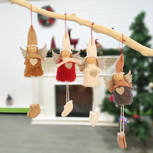 Newest Cute Angel Plush Doll Christmas Decoration Pendant Creative Tree Ornaments For Home Decor