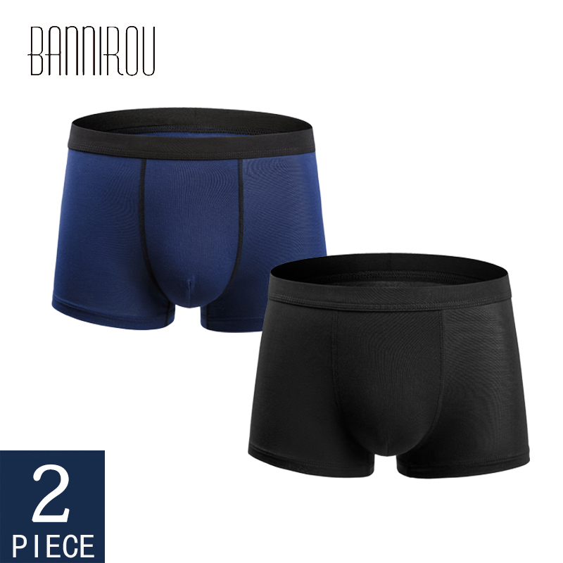 2 Pcs Mens Boxers Underwear Cotton Boxer Underpants Homme Boxershorts Calzoncillos Hombre Jockstrap Panties For Man U Convex New
