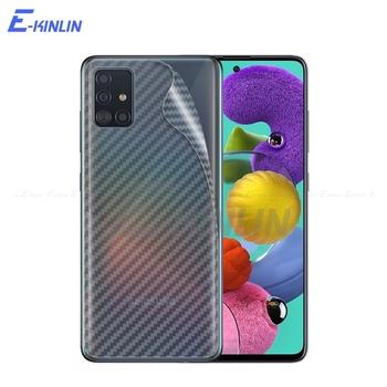Tylna pokrywa z włókna węglowego ochraniacz ekranu do Samsung Galaxy A01 rdzeń A11 A21 A31 A41 A51 A71 5G naklejka folia ochronna bez szkła tanie i dobre opinie E-KINLIN Matte CN (pochodzenie) Folia na tył Back Rear Cover Screen Protector Guard Protective Film 3D Soft Carbon Fiber(Not Tempered Glass)