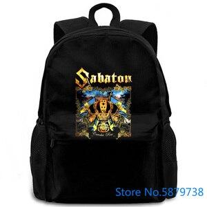 Sabaton Carolus rex черный большой на продажу новый женский мужской рюкзак для ноутбука путешествия школы взрослых студентов