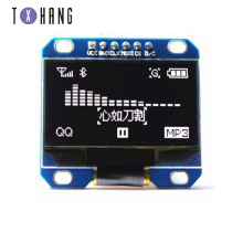 2pcs 1.3 inch IIC SPI Serial 128X64 white OLED Display Module SPI I2C LCD Screen Board
