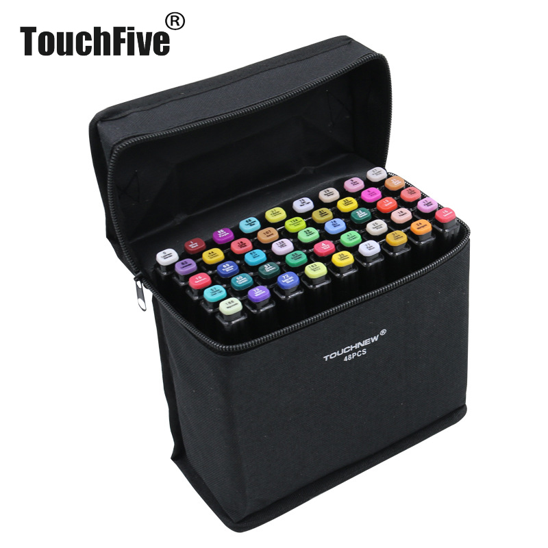 TouchFIVE 168 Colors Single Markers Manga Drawing Markers Pen Alcohol Based Sketch Oily Dual Brush Pen Art Supplies