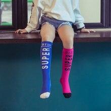 Модные детские носки для девочек; сезон осень-зима; яркие цвета; Гольфы; хлопковые теплые детские носки для От 3 до 12 лет