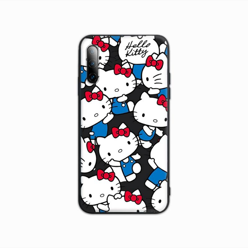 New Product Cute Hellos Kitties Luxury Black Matte Phone Case Cover For Samsung Galaxy S9 S10 S20 S21 S30 Plus Ultra S10e S7 S8