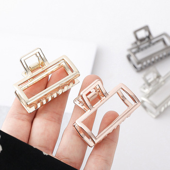 New Hollow Hair Claws Clamps for Women Girls Barrettes Gold Plated Clips Claw Headwear Hairpin Large Small Accessories