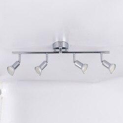Lâmpada de led rotativa para teto de cozinha, ângulo ajustável gu10, para bar, iluminação de parede, sala de estar, armário
