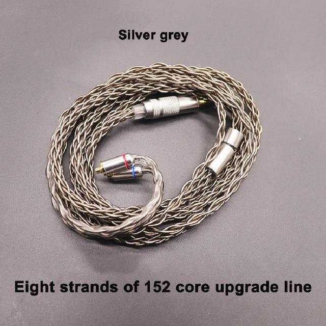 8 נתח 152 ליבה אחת קריסטל נחושת כסף ציפוי אוזניות שדרוג קו MMCX/0.78/IE80/ QDC/A2DC/IM50