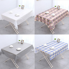 Thickened PVC disposable table cloth waterproof coffee table table cloth round table living room square dining room EVA mat