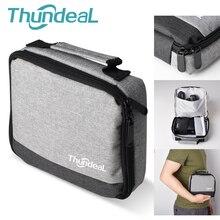 Thundal المحمولة DLP العارض حقيبة T18 ماكس RD606 T20 جهاز عرض معالجة رقمية للضوء صغير من الصعب حمل حقيبة واقية السفر تحمل الحقيبة الناعمة