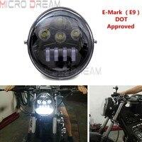 E-mark 승인 오토바이 LED 헤드 라이트 할리 V-로드/스트리트로드/VRSC/VRSCA / VRSCX / VRXSE 1984-2017 용 헤드 램프