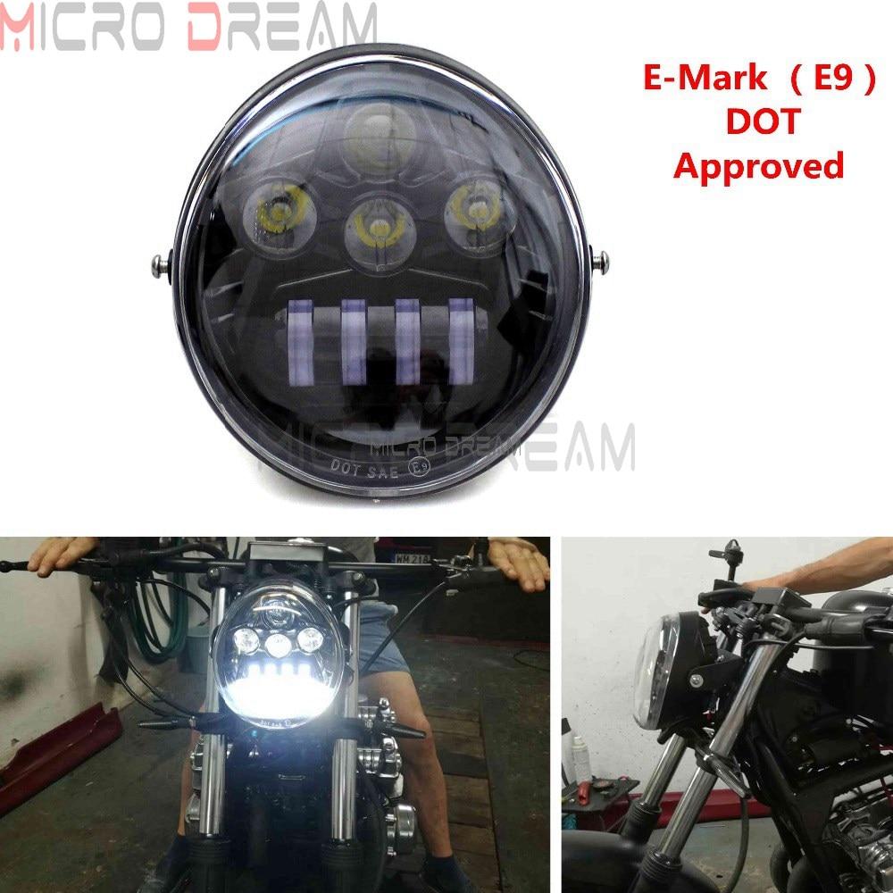 E mark Approved Motorcycle LED Headlights Head Lamp For Harley V Rod / Street Rod / VRSC / VRSCA / VRSCX / VRXSE 1984 2017|  - title=