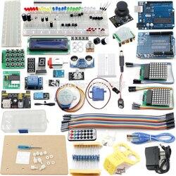 El Kit de inicio más completo para ar-duino Mega2560 R3 Nano con Tutorial, placa R3 LCD1602, fuente de alimentación, Servo, etc.