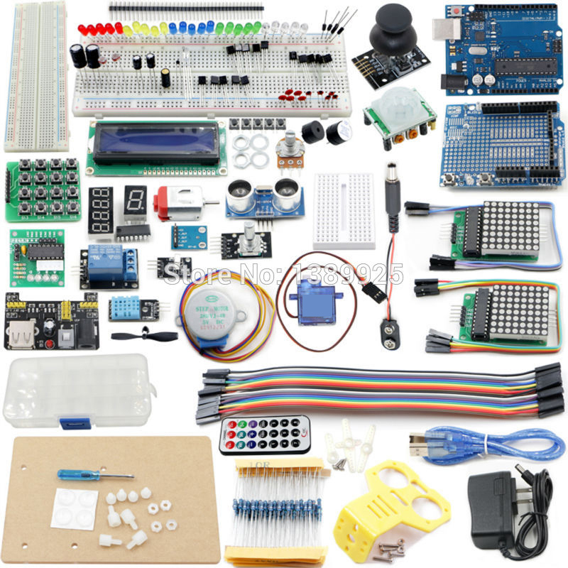 The Most Complete Starter Kit For Ar-duino Mega2560 R3 Nano With Tutorial, R3 Board LCD1602, Power Supply, Servo,ect