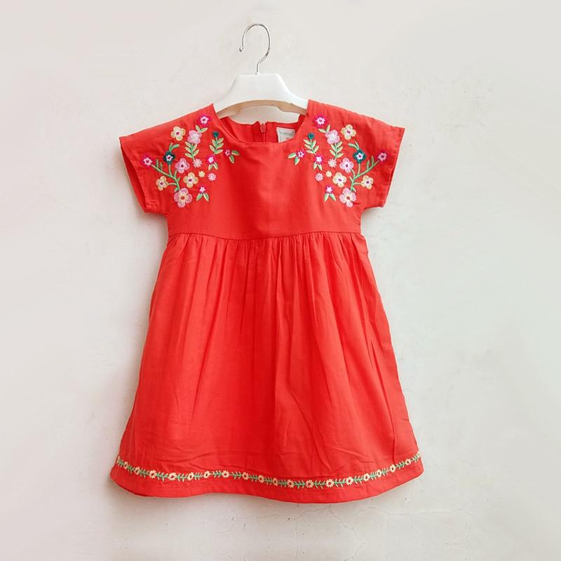 Baby Girls Embroider Dress Summer Princess Dress For Girl Birthday Party Dress Girl Dress Cotton