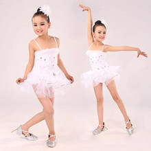 Children's White Skirts, Ballet Costumes, Girls' Ballet Stage Costumes, Training and Practice Clothes, Performance Costumes