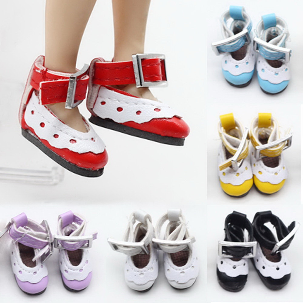 1 pair 2.8cm Shoes Fit for Blyth Licca Jb Pullip Doll Mini Toy Russian 7 Colors Lacy 1/6 BJD