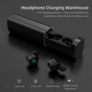 Image 5 - Мини Bluetooth наушники 5,0 + EDR с двойным микрофоном, спортивные водонепроницаемые 3D стереонаушники, гарнитура с автоматическим сопряжением, TWS беспроводные наушники