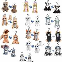 11cm Feisty Pets Mini Plush Keychain Clips Cute Gifts for Friends Kids Children Gifts