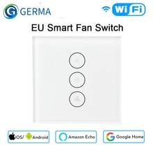 GERMA EU WiFi 스마트 천장 팬 스위치 APP 원격 타이머 및 속도 제어 Alexa 및 Google 홈과 호환 가능 허브가 필요 없음