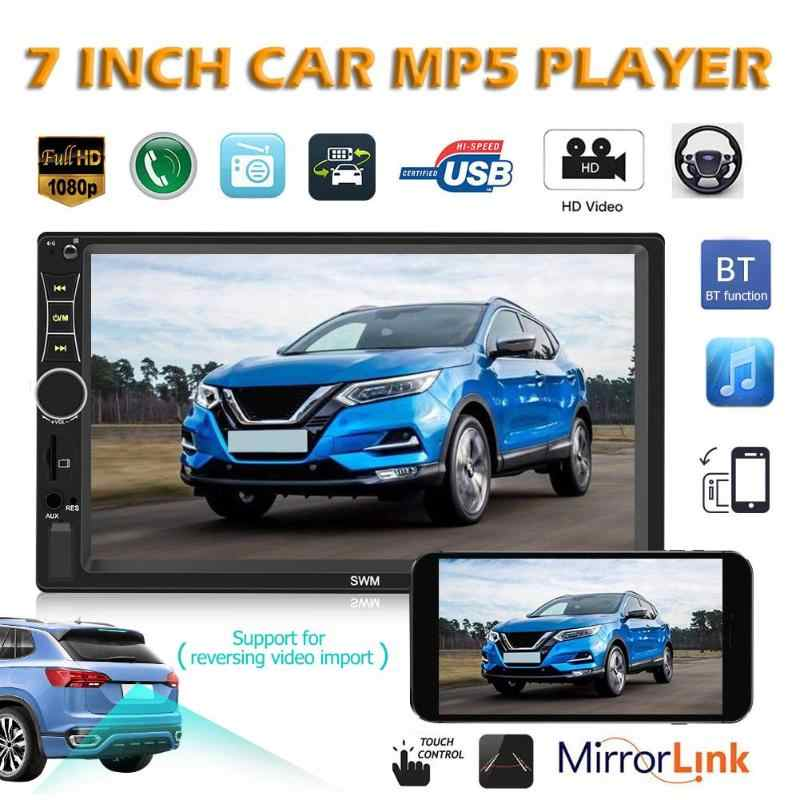 SWM A7 Double 2 DIN Mobil Stereo 7 Inci Bluetooth AUX U Disk Radio Di Dash Kepala Unit mobil Multimedia Player