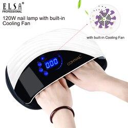 Ventilador de refrigeración integrado de 120W secador de uñas 10s de secado rápido Luz de Gel de secado rápido profesional UV Led juego de lámpara para todo tipo de uñas de Gel