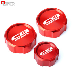 For Honda CB 1000R cb1000r 2009 2010 2011-2016 Motorcycle CNC Aluminum Rear & Front Brake Fluid Reservoir Cap Cylinder cover(China)