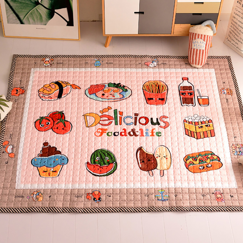 Baby Kids Crawling Mat Baby Play Mat  Cartoon Animal Infant Developing Carpet Rug Infant Pad Room Accessories