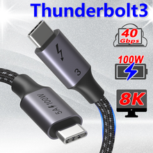 Coaxial USB C Thunderbolt 3 Cable 40Gbps PD 100W USB4 Type C Cable 5A/20V 4k@120Hz 8K@60Hz Fast Charger for iPad Macbook Pro