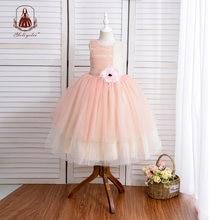 Yoliyolei платье для девочек длиной до пола вечеринки свадьбы