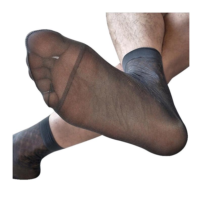 Nylon Comfortable Sheer High Quality Summer Men/'s Silk Stockings Transparent IN9