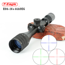 TEAGLE 4-16x44 Tactical Optic Cross Sight Green Red Illuminated Riflescope Hunting Rifle Scope Sniper Airsoft for Air Guns
