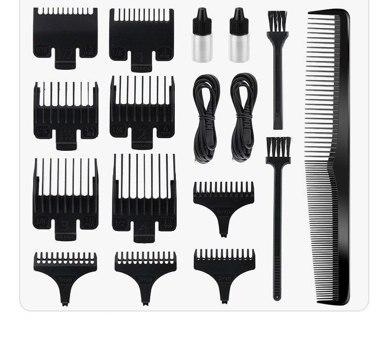 usb recarregável máquina de cortar cabelo oilhead