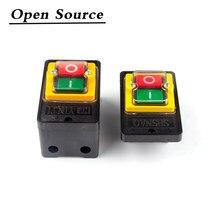 Botão de pressão industrial do interruptor dos acessórios impermeáveis do motor de broca da máquina durável para cortar a casa elétrica de ligar/desligar para KAO-5M