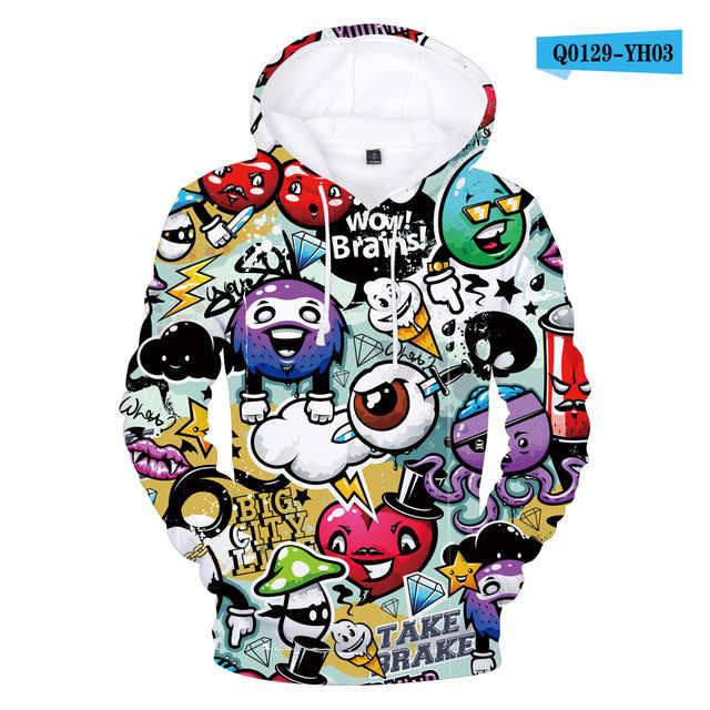 Harajuku Kpop Hoodies Anime 3D Kleding Jongens Kinderen Sweatshirts Cartoon Haai Hoodie Kids Tee Tops Baby Meisje Graffiti Outfit