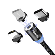 Usb-Cable Mobile-Phone Fast-Charger Type-C Micro-Usb Magnetic 1M 3-In-1 Alimoto
