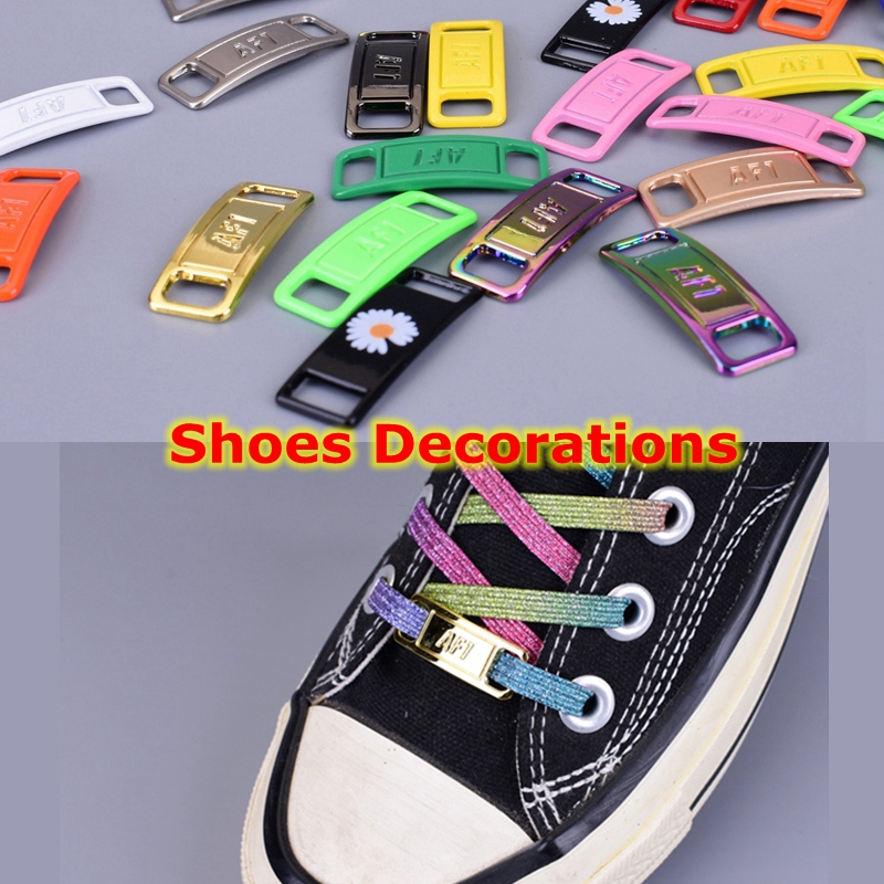 Shoelaces Buckle Shoes Decorations DIY Sneaker Kits Metal Lace Buckle Stylish And Beautiful Suitable For All Kinds Of Flat Laces