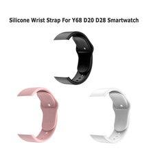 Correa de silicona para reloj inteligente Y68 D20 D28, repuesto de correa suave de TPU, accesorios de banda de reloj inteligente, venta al por mayor