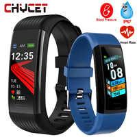 2020 pulsera inteligente de pulsera de Fitness la medición de la presión arterial inteligente pulsera de corazón de podómetro impermeable inteligente reloj banda