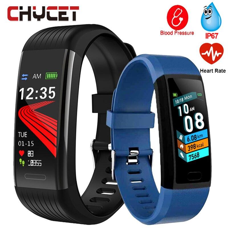 Pulseira de Fitness Medição da Pressão Cardíaca à Prova Inteligente Pulseira Arterial Pedômetro Freqüência Dwaterproof Água Relógio Banda 2020