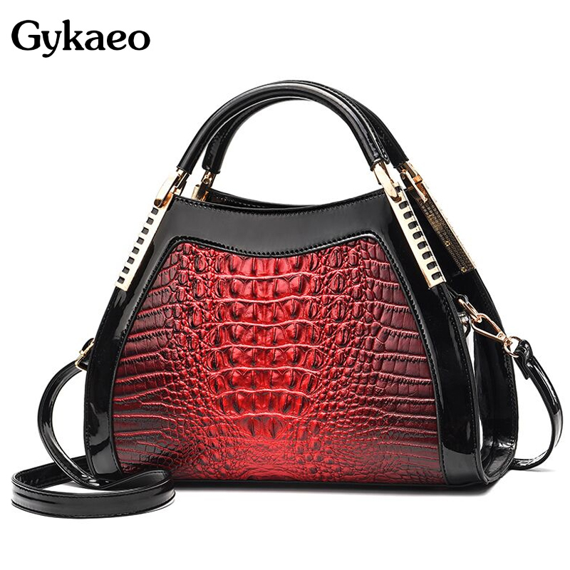 Gykaeo New Luxury Handbags Women Bags Designer Fashion Crocodile Pattern Shoulder Bag Ladies Party Messenger Bags Bolsa Feminina