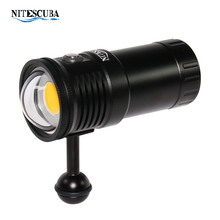 Nitescoba nsv60 mergulho luz de vídeo 6000 lúmen alta cri = 90