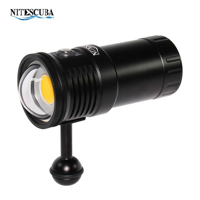 Nitescuba NSV60 diving video luce 6000lumen Alta CRI = 90