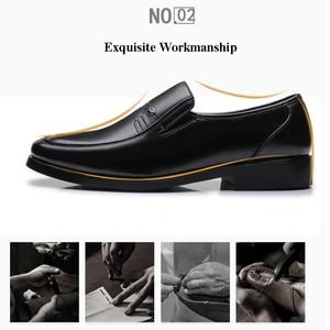 Image 3 - Merkmak מותג גברים עור רשמיות עסקי נעלי זכר משרד עבודה שטוח נעלי אוקספורד לנשימה מסיבת חתונה נעלי יום השנה