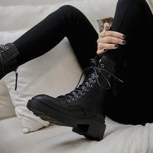 Женские ботильоны из воловьей кожи осенне зимние женские ботинки