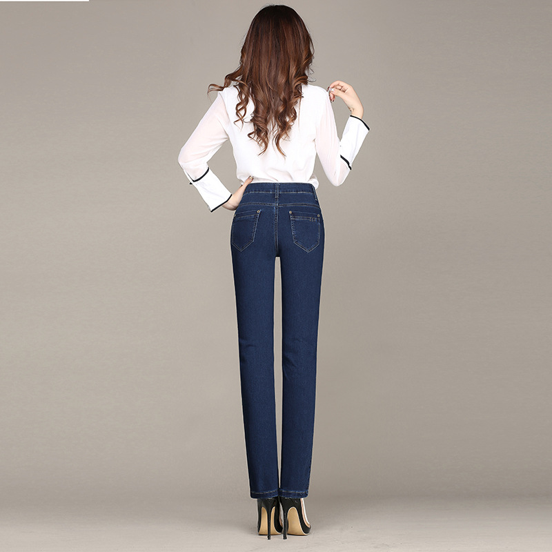 2018 Autumn New Style WOMEN'S Pants Elasticity High Waist Jeans Women's Slim Fit Skinny Pants Slimming Skinny Cowboy Trousers Wo