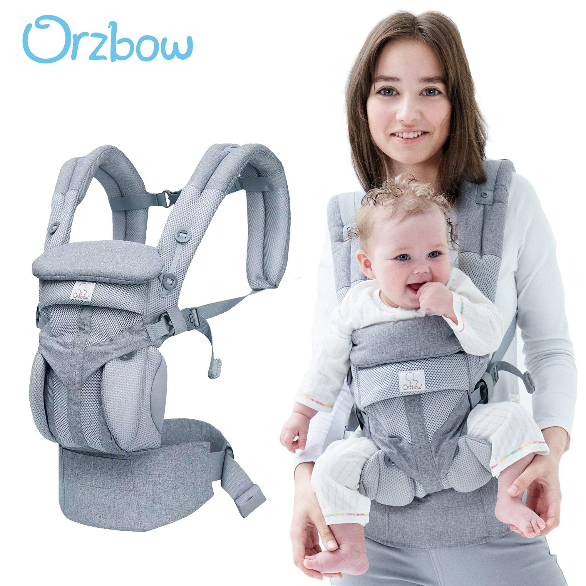 Orzbow Baby Carrier Sling For Newborns Ergonomic Baby Kangaroo Backpack & Front Infant Carrier Wrap Hipseat Holder Children Kids